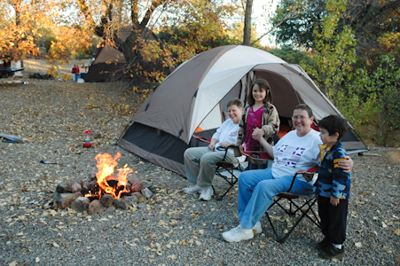 Photo of people tent camping